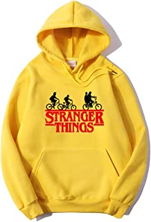 (6 COLOR) Stranger things TV show Print classic hoodie sweatshirt pullover sweater women girls men boy fashion shirt tops