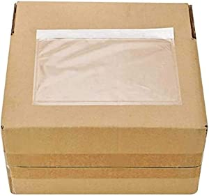 BESTEASY Packing List Pouches, Clear Adhesive Top Loading Packing List/Shipping Label Envelopes - 100 Packs (6 x 9)