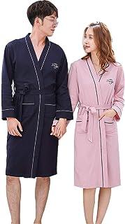 YONGYONG Pajamas Autumn and Winter Coral Fleece Long Bathrobes Couple Pajamas Mens Thickening Home Service YONGYONG Color : Gray B, Size : XXL