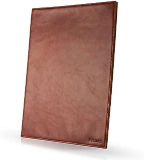 Enveloppe en cuir BULLAZO DOCUMENTO pour documents A4 comme pochette de présentation I Elégant classeur à documents en cui...