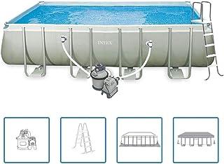comprar comparacion vidaXL Intex Ultra - Juego de piscina exterior rectangular, de 549 x 274 132 cm, 28352GN
