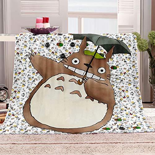 SHHSGZ Nordischer Cartoon Totoro Decke Kinder Decke sofadecke plüsch Decke Flauschige kuscheldecke bettüberwurf für Sofa und Couch bettwäsche Wolldecke-S
