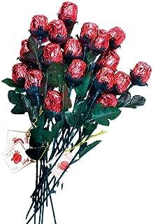 a dozen belgian milk chocolate roses