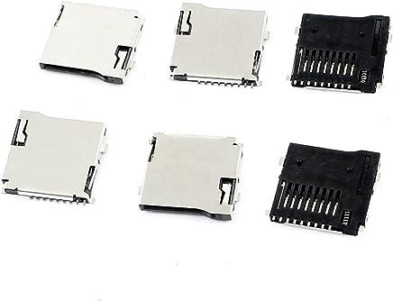 Sourcingmap® 6PCS Smart Phone Spring Loaded TransFlash Micro SD Card Sockets Slots de