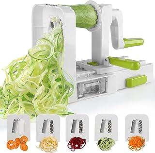 Jinzuke Embudo de Vegetales Multifuncional Cortador de ABS de Acero Inoxidable en Espiral Slicer Peeler Novedades para la Cocina