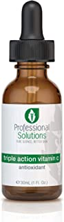 Professional Solutions Triple Action Vitamin C Serum for Face, Anti-Aging, Anti-Wrinkle, Dark Spot Serum with 3 Forms of A...