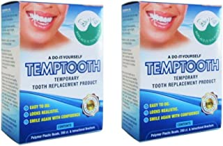 Temporary Tooth Replacement Kit, DIY Filling for Missing Tooth (x2)