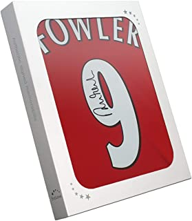 Robbie Fowler Signed Liverpool Number 9 Soccer Jersey 2001. In Gift Box