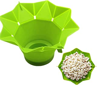 JUSTDOLIFE Popcorn Popper Diy Microwave Popcorn Popper Popcorn Maker Popcorn Bowl One Size Green