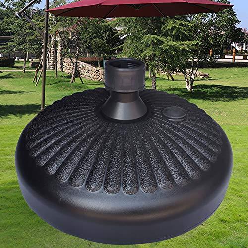 Base de sombrilla de plástico con base de agua y arena rellenable para patio al aire libre y jardín