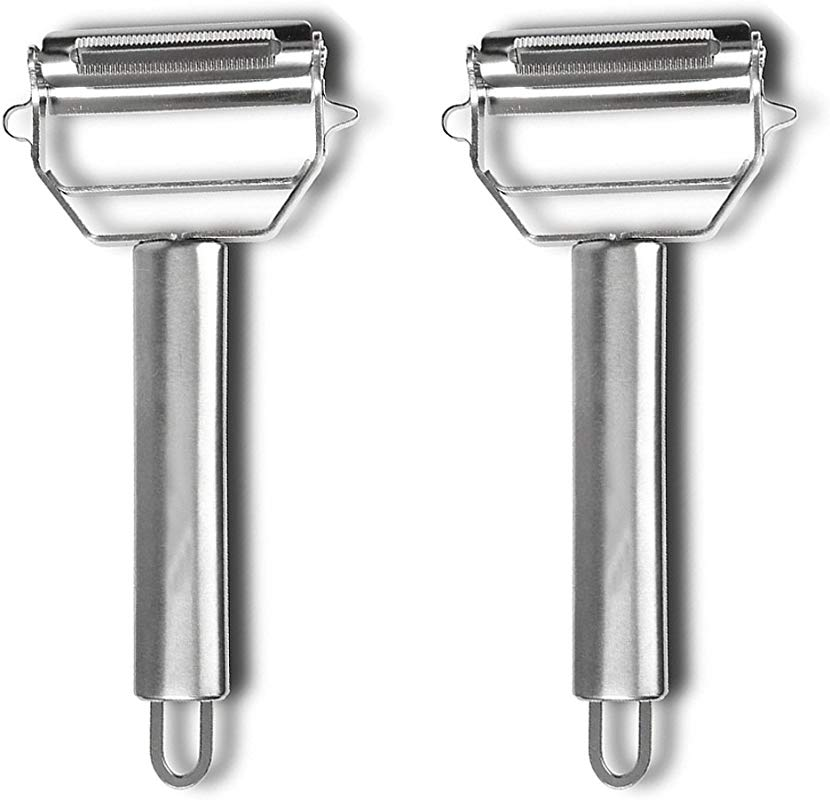 2 Pieces Ultra Sharp Stainless Steel Vegetable Peeler