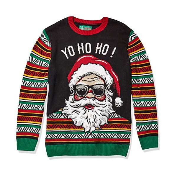 Ugly Christmas Sweater Company Men's Assorted Santa Crew Neck Xmas Sweaters