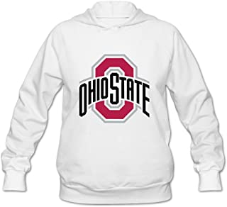 JeFF Women's The Ohio State University LOGO Long Sleeve Sweatshirt Hoodies (US Size)