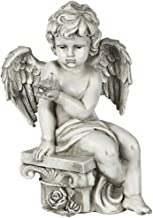 Angel Statues and Figurines for Outside, Sitting Angel Sculptures Ornament, Resin Decorative, Religious Home Outdoor and I...