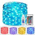 Homestarry Fairy Lights USB Plug String Lights with Remote 33 ft Color Changing Lights 100 LED's Twinkle Firefly Lights for Bedroom Party Wedding Christmas Tapes