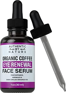 Dark Circles Under Eye Treatment - Organic Coffee Bean Eye Renewal Face Serum by ABN. For Dark Circle Bags, Puffiness, and Wrinkles. Best Anti Aging Cream and Dark Spot Concealer Alternative for Face