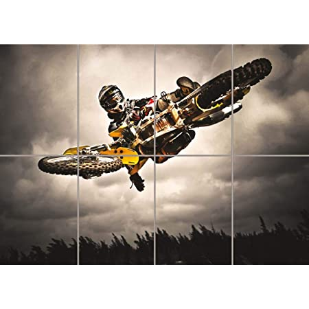 Motocross Bike Jump Freestyle New Giant Wall Art Print Picture Poster