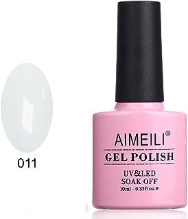 AIMEILI Soak Off UV LED Gel Nail Polish - Studio White Arctic White (011) 10ml