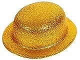 Alsino Bombetta   Cappello Oro   Scintillante   Glitter   Taglia Unica   Adulti   per Travestimento   Costume   Chaplin   Carnevale   Halloween   Serata Festa a Tema, MEL-03 Glitter Oro