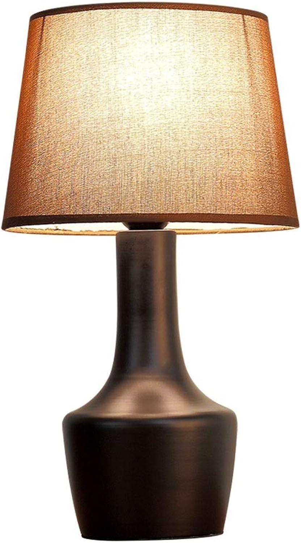 Dicai Kreative Nordic Metall Tischlampe Amerikanische Persnlichkeit Eisen Schreibtischlampe Einfache Tuch Nachttischlampe E27 Edison Leselampe Büro Baby Zimmer Schlafzimmer Desktop Lichter