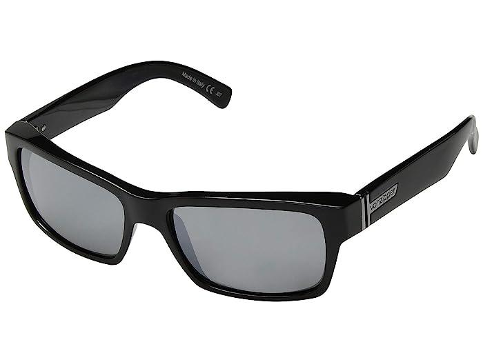 VonZipper  Fulton (Black Gloss Silver Chrome) Fashion Sunglasses