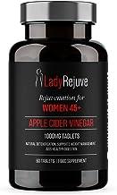LadyRejuve Apple Cider Vinegar – 1000mg – Food Supplements for Women 45 – Natural Detox Boost Metabolism Aid in Weight Loss Menopause Support Healthy Gut – Vegan Vegetarian-Safe – 60 Tablets Estimated Price : £ 11,97