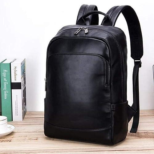 FDQS De Sport en Plein Air Camping Sacs à Dos Men's Shoulder Baotou Layer Cowhide Multifunctional Leisure Business Computer Package Large Capacity Schoolbag