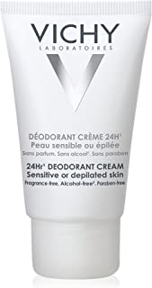 Vichy 24-Hour Deodorant Cream for Sensitive Skin, 1.35 Fl Oz