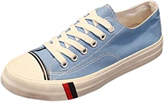 Amint Low-Cut Canvas Shoes Unisex Fashion Sneaker Lace Ups Sports Shoes Casual Trainers for Men and Women