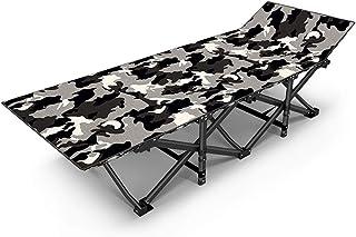QSHG Tumbonas Sillas de jardín Sillas reclinables Reclinables Floding Relájese Silla de Playa Camping Patio Café 2019 Nuevo Camuflaje (Color : Black, Size : 190 * 67 * 35cm)
