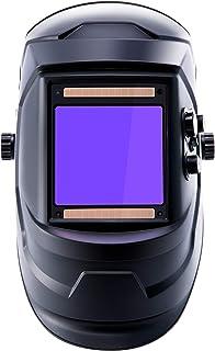 Sfeomi Careta para Soldar de 1/1/1/1 Casco de Soldadura Automática con Pantalla de 100 x 93mm Careta de Soldar Automatica Profesional para Soldadura MIG/MMG/TIG