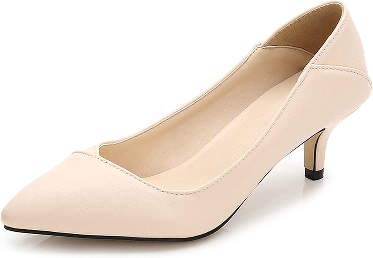 Pointed Toe Women Pumps Leather Office&Career Women shoess shoes Lady