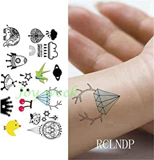 tzxdbh 10 Piezas Impermeables Tatuajes temporales Tatuajes Tribales Totem Lotus Flecha Mandala Tatto Tatoo Cuello Mano atrás pie para niña Mujer 10pcs-9