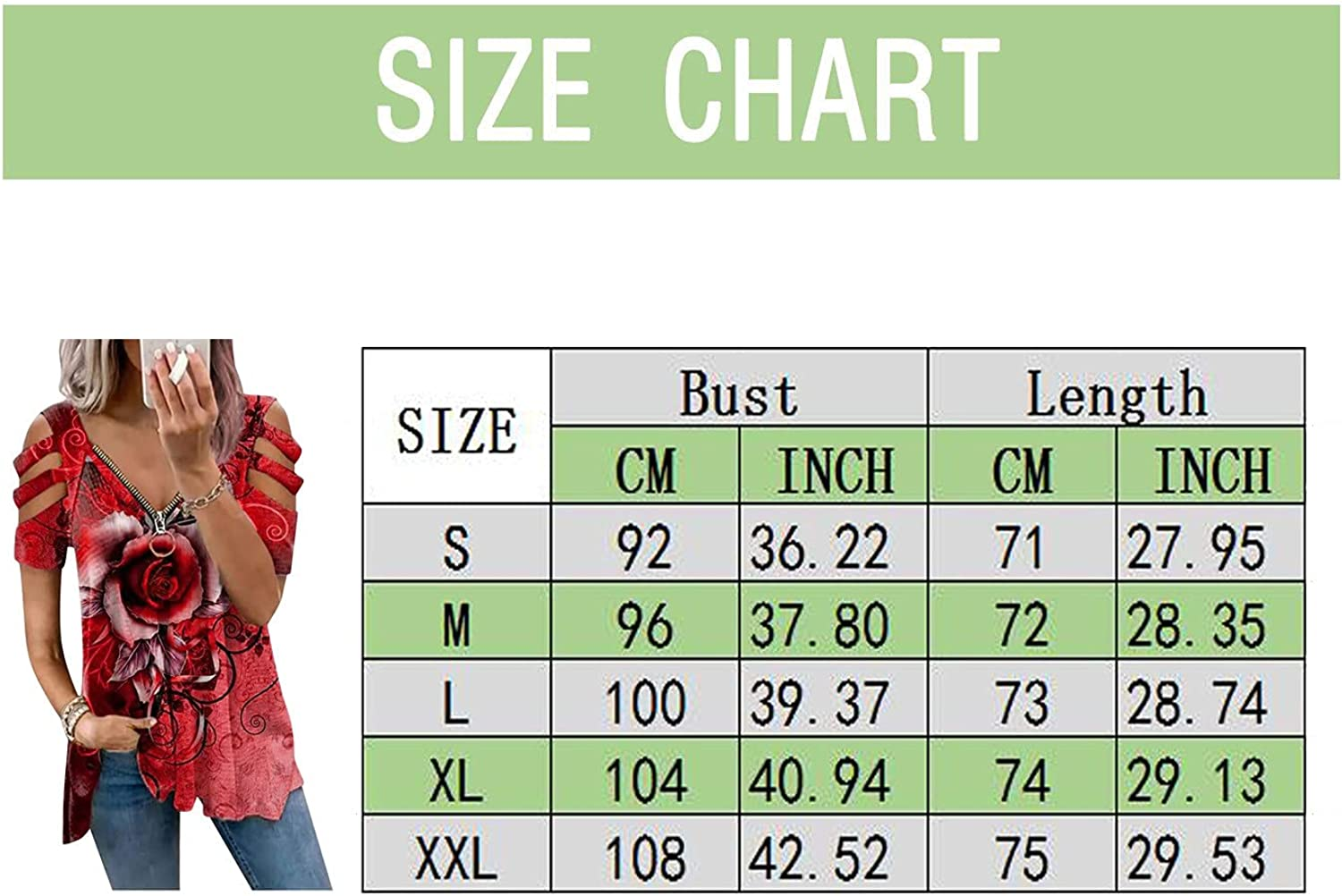 YHAIOGS Cold Shoulder Plus Size Tunics Tops for Women, Long Sleeve Floral Print V Neck T Shirts Summer Casual Fashion Blouses