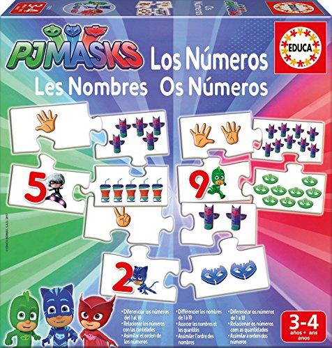 Puzzle aprendo los números con PJMasks