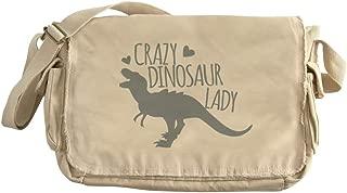 CafePress Crazy Dinosaur Lady Unique Messenger Bag, Canvas Courier Bag