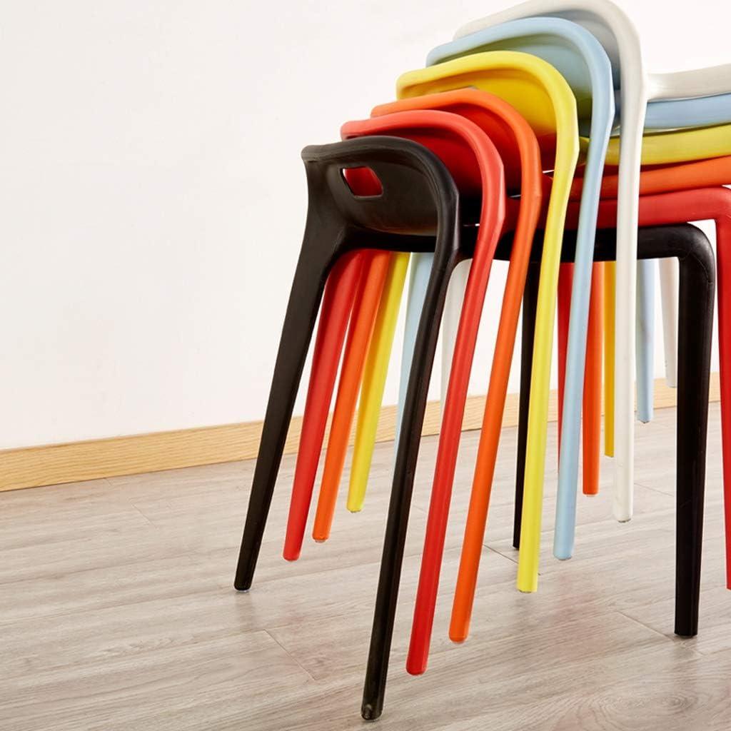 SLL- Chaise de Salle, Chaise de Bureau Simple, créative Dossier, Chaise Loisirs, Maison Adulte Chaise de Salle Moderne (Color : Red) Orange