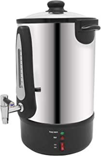 Huanyu 12Liter Electric Kettle Large Capacity Hot Water Boliers Coffee Maker Urn Stainless Steel Heating & Keeping Warm Drinks Dispenser for Catering Office Cafe Churches Bar Party 3.2Gal 60Cups