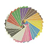 LJY 6mm Round Dot Stickers Color Coding Labels, 12 Different Assorted Colors, 36 Sheets, 14688 Dots in Total
