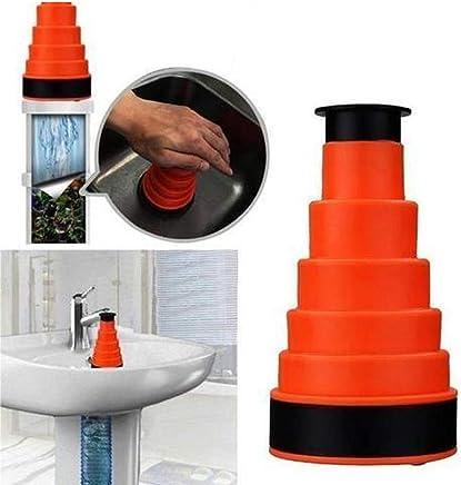Hemiza Clog Cannon Kitchen Sink, Toilet Drain Pipe Blockage, Bathroom Sink Blockage Cleaner High Pressure Pump (Set of 1) (Multi Color)