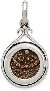 925 Sterling Silver Bronze Widows Mite Coin Pendant Charm Necklace Bezel Fine Jewelry For Women