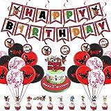 Bing Bunny Party Supplies, Bing Bunny decoración de fiesta de cumpleaños, pancartas de conejo, globos, adornos en espiral y adornos para tartas