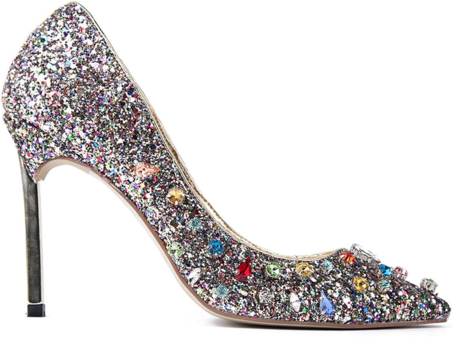 MCandy Women's Prom Party Pumps Crystals Ladies Evening Dress shoes