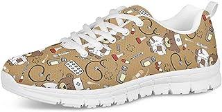 Polero Chaussures sanitaires pour femme Chaussures plates en maille filet Taille 36-45 Parfaites pour le sport, kaki (Marr...