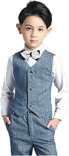 フォーマル スーツ タキシード ボーイズ キッズ ベスト ズボン シャツ 3点セット