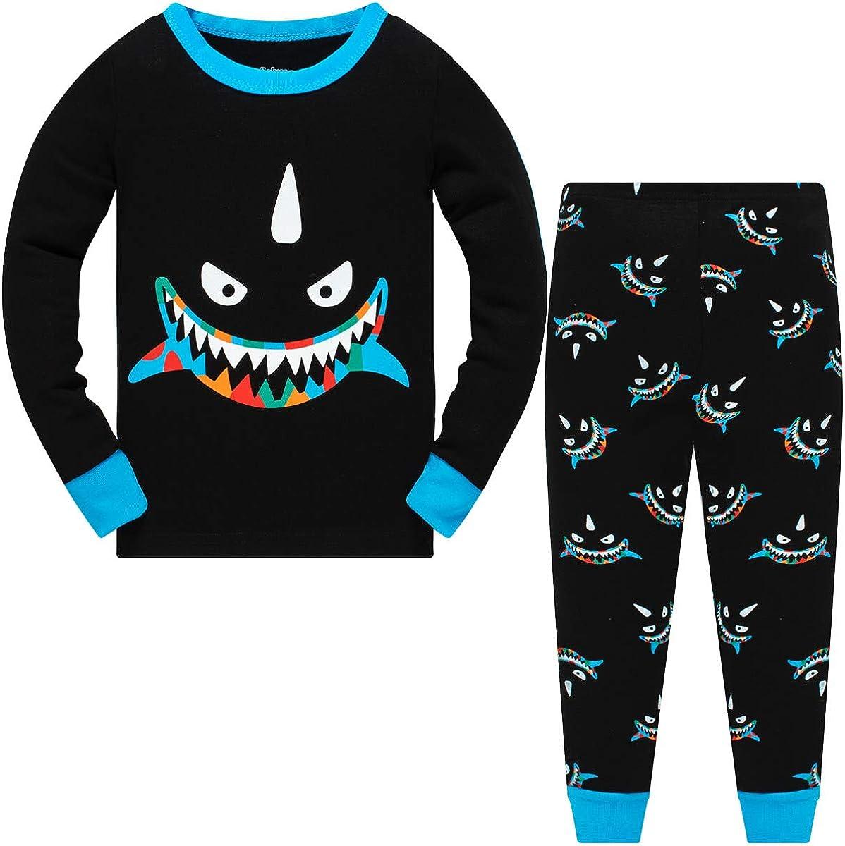 Papoopy Boys Dinosaur Pajamas Size 2-12