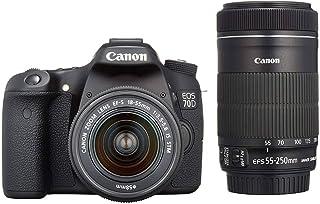 新品 Canon デジタル一眼レフカメラ EOS 70D ダブルズームキット EF-S18-55 IS STM/EF-S55-250 IS STM付属 EOS70D-WKIT