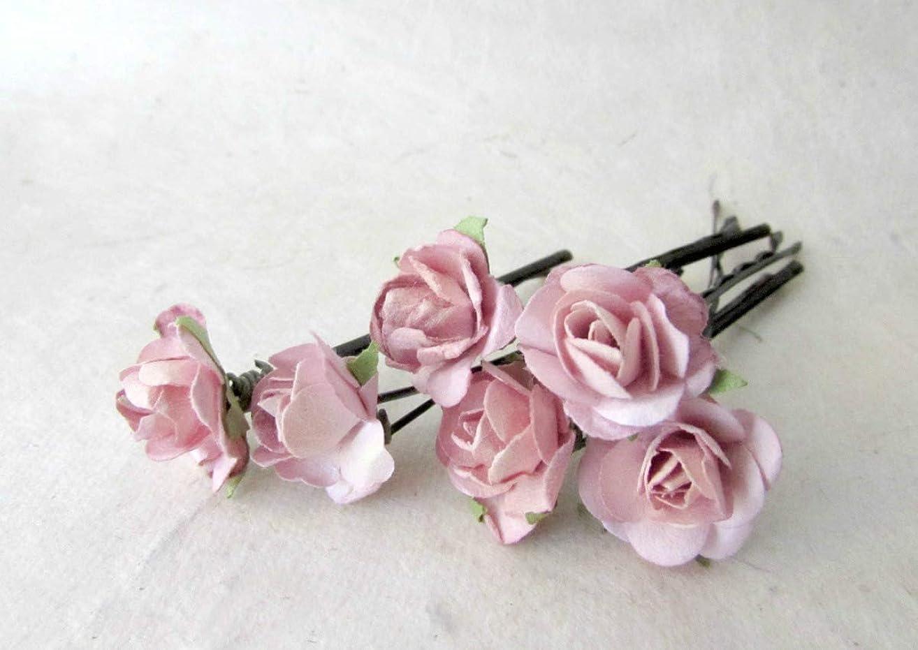 Blush Pink Flower Hair Pins