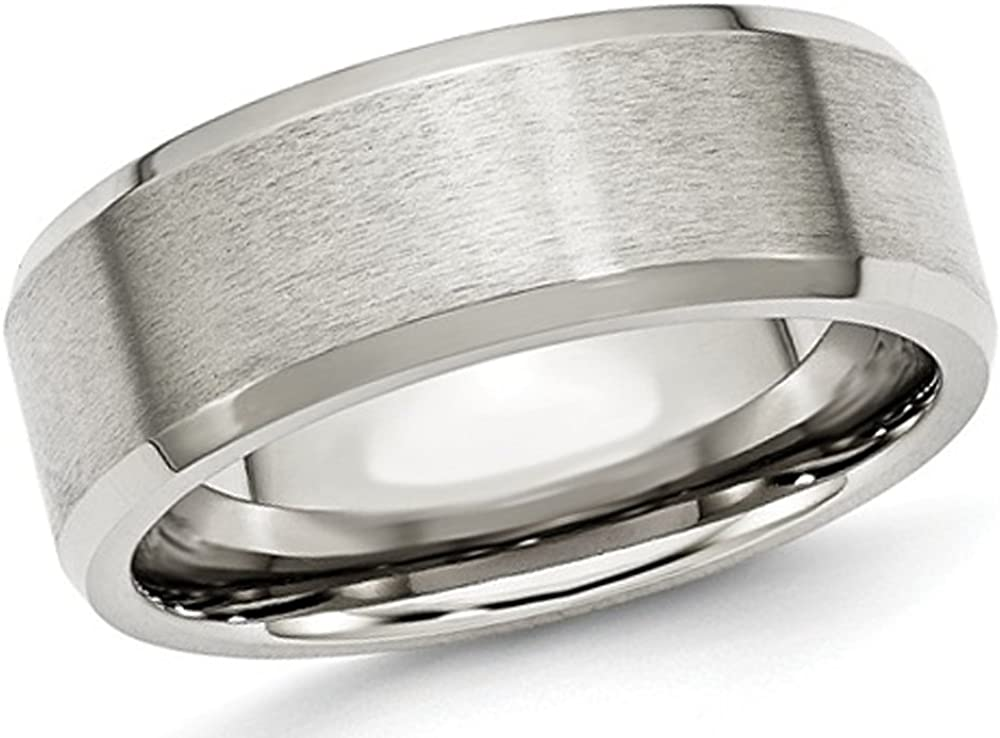 Gem And Harmony Mens 8mm Stainless Comfort Steel Columbus Mall Fit Ban Wedding Max 49% OFF