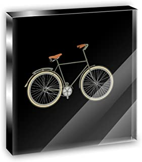 Fixed Gear Bicycle Acrylic Office Mini Desk Plaque Ornament Paperweight